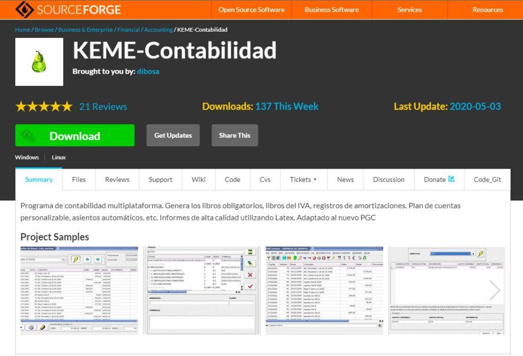 Keme es un sistema de contabilidad de codigo abierto muy popular.